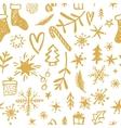 Christmas Seamless Pattern Hand drawn design vector image vector image