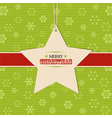 Christmas star label background vector image vector image