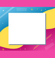 colorful abstract modern copy space design vector image vector image