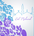 colorful eid mubarak design vector image vector image
