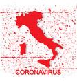 coronavirus in italy concept vector image vector image