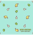 different christmas seamless patterns vector image vector image