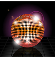 Disco ball Background vector image vector image