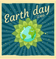 earth day planets earth in a stylized flower vector image