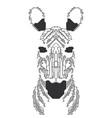 electronic zebra vector image vector image