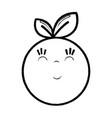 figure kawaii nice happy orange fruit vector image vector image