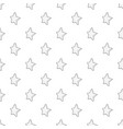 five-pointed star icon outline style vector image
