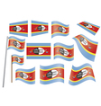 flag of Swaziland vector image vector image