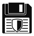 floppy disk protected icon simple style vector image