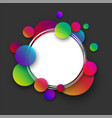 grey round background with colour bubbles vector image vector image