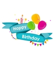 Happy birthday background with ribbon balloons