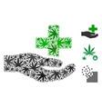 health care donation collage of marijuana vector image vector image