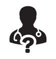 healthcare icon doctor male person profile avatar vector image