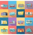 Houses Set Architecture Variations Flat Design vector image