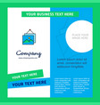 image frame company brochure template busienss vector image