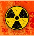 ionizing radiation sign radioactive contamination vector image vector image