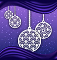 laser cut balls for christmas background vector image vector image
