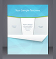 layout business flyer magazine cover template vector image vector image