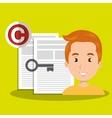 man paper confidential vector image