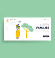 maternity love family website landing page happy vector image