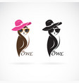 owl fashion design on white background birds vector image vector image