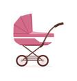 pink bapram or stroller safe transportation of vector image vector image