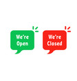 red and green open closed bubbles vector image