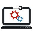 repair and maintenance laptop computers symbol vector image vector image