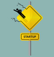 Road sign of entrepreneur launching vector image vector image