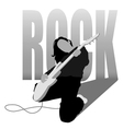 rock girl vector image