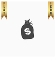 sack of dollars vector image vector image