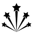 salute firework icon black color flat style vector image