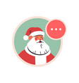 santa claus avatar happy new year merry christmas vector image