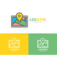 simple gps location route map navigator logo vector image vector image