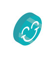 smile emoticon social media isometric icon vector image