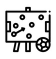 soccer strategy on desk icon outline vector image