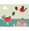 social media birds communication vector image vector image