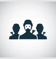 soldiers group icon for web and ui on white vector image