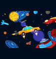 space jet taxi service vector image