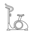 spinning gym equipment vector image