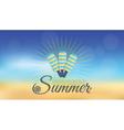 summer blur hipster background vector image