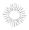 sunburst explosion hand drawn design element vector image vector image