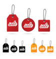tag sale in various poses color design vector image vector image