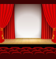 theatrical scene with white a stand vector image vector image