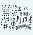 Various musical notes vector image vector image