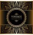 Vintage gold lacy background