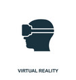 virtual reality icon mobile app printing web vector image
