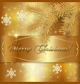 Gold Christmas Holiday Greeting Card vector image