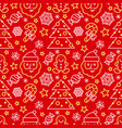 christmas seamless pattern - santa and candy canes vector image