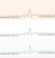 marrakesh hand drawn skyline vector image